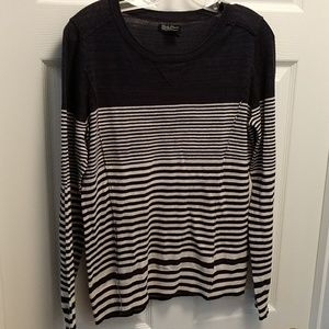 Lucky Brand navy striped sweater, sz Medium